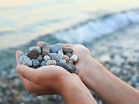Geologische Strandexkursion - Steine für Kids